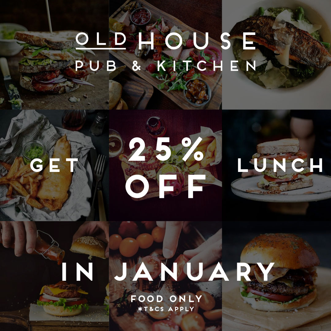 Get 25% off Lunch offer all January - Pub & Restaurant Northampton